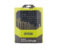 Набор сверел и бит 86 предметов Ryobi RAK86MiXC
