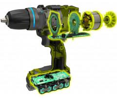 Дрель-шуруповерт бесщеточная аккумуляторная Ryobi R18DDBL-0 ONE+