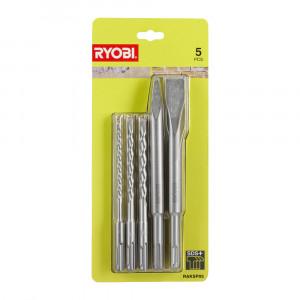Набор буров и долот SDS Plus Ryobi RAKSP05