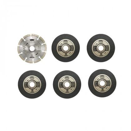 Набор дисков Ryobi RAK6AGD125 для УШМ (125х22.2 мм)
