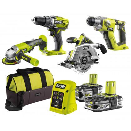 Набор инструментов Ryobi R18DDAG4-525S ONE+