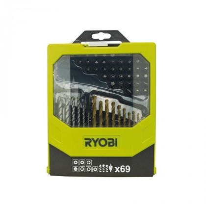 Набор сверел и бит 69 предметов Ryobi RAK69MiX