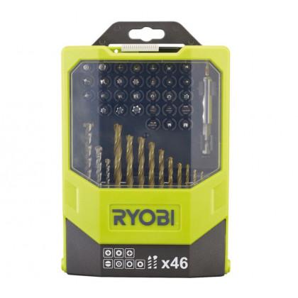Набор сверел и бит 46 предметов Ryobi RAK46MiXC