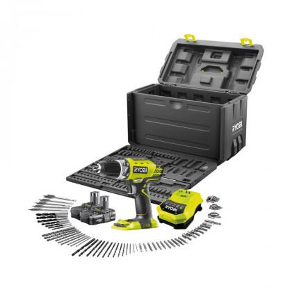 Дрель-шуруповерт аккумуляторная Ryobi RCD1802-LL13X ONE+ с 100 принадлежностями